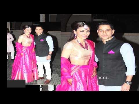 Yuvraj Singh, Neha Dhupia at Soha Ali Khan's wedding reception - TOI