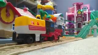 Peppa Rides Home on a Geotrack Train | Preschool Learning Videos