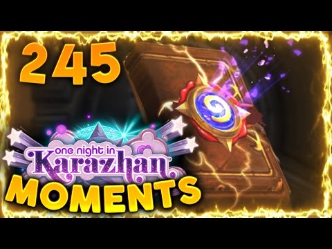 Hearthstone Karazhan Daily Funny and Lucky Moments Ep. 245 | Lucky Pack Legendary!!
