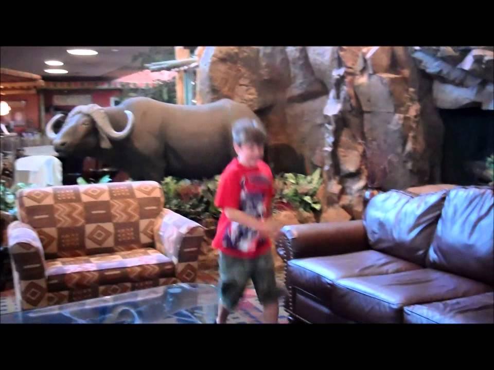 Kalahari Sandusky: Our 2 room Family Suite & the Lobby, Arcade ...
