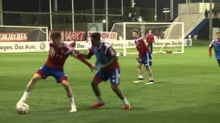2 x 15 Minuten - Komplettes Trainingsspiel des FC Bayern in Doha - Whole training match FC Bayern