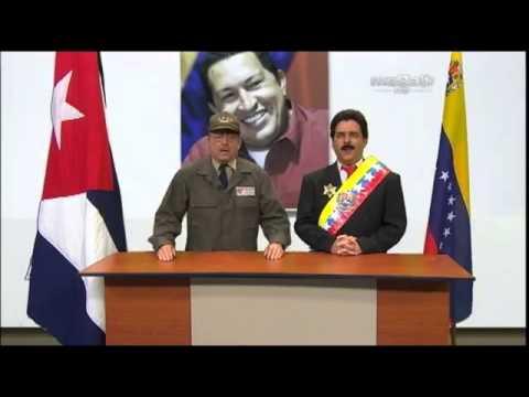 MADURO EN REUNION CON RAUL CASTRO-- HUMOR