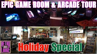 EPIC GAME ROOM & ARCADE TOUR | RGL HOLIDAY SPECIAL 2018!!!