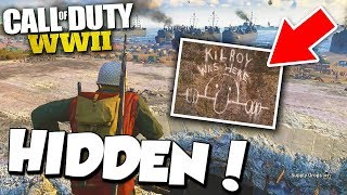 COD WW2 HIDDEN EASTER EGGS IN HEADQUARTERS! (completing all the challenges!)