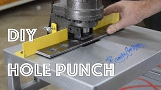 DIY Electric Hydraulic Hole Puncher Station - Punch Holes Easily in Thick Steel
