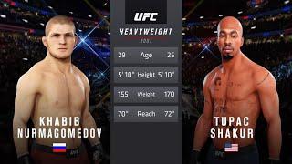 Khabib Nurmagamedov vs. Tupac Shakur (EA sports UFC 3) - CPU vs. CPU