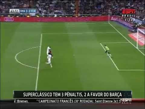 Penalty a Neymar Clasico en el Bernabéu 23 03 2014 2da parte
