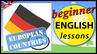 European countries in English, Beginner English Lessons for Children