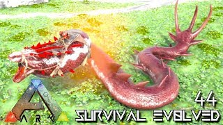 ARK: SURVIVAL EVOLVED: ALPHA BASILISK & BARYONYX TAME E44 !!! ( ARK EXTINCTION CORE MODDED )
