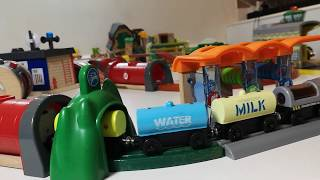 Kids Train Track, BRIO World- Smart Tech Engine with Action Tunnels and  Washing Station