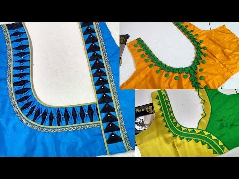 Easy and Simple Work for Your Back neck Blouse Design || Latest 20 Types of Blouses Designs