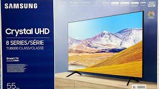 """Samsung 2020 TU8000 55"""" 4K TV Unboxing, Setup and 4K Demo Videos"""