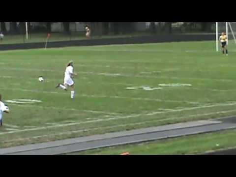 Soccer: Kirtland High School -  Hallie Ward slide tackle then possession