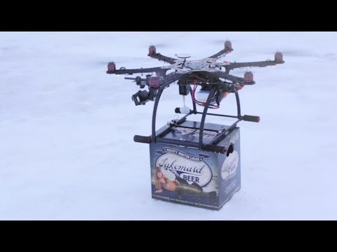 Lakemaid Beer Drone Delivery