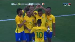 Brazil Olympics Vs Japan 2-0 Marquinhos Goal - Friendly Match 30/07/2016
