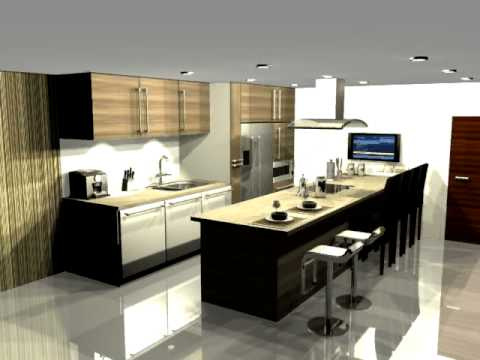 3d max a very nice kitchen youtube for Kitchen set 3ds max