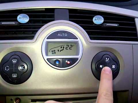renault grand scenic 2 0 dci ventilation system youtube. Black Bedroom Furniture Sets. Home Design Ideas