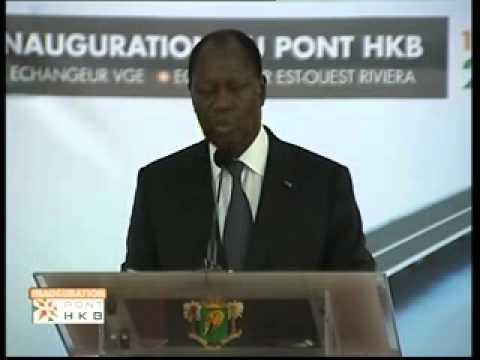 Discours du président Alassane Ouattara à l'inauguration du Pont HKB d'Abidjan