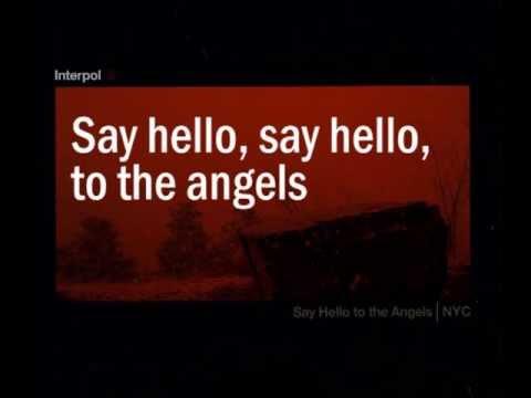 release single interpol hello angels