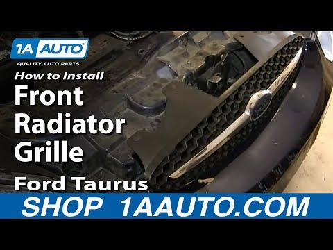 How To Install Replace Front Radiator Grille 2000-03 Ford Taurus
