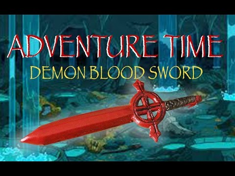 Adventure Time   Finn's Red Demon Blood Sword   Polymer Clay Tutorial