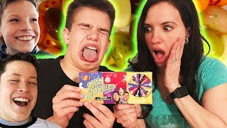 Ninja Kids Try Not to Laugh Challenge Bean Boozled Style
