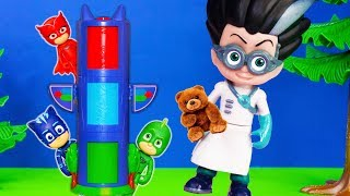 Romeo from PJ Masks loses bedtime teddy with Amaya and Conor and Greg