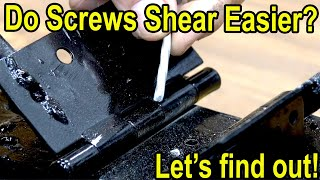 Do Screws Shear easier than Nails? Let's find out!