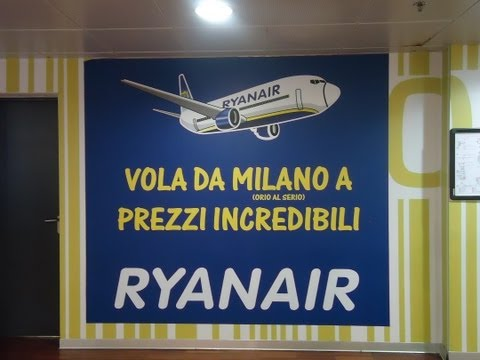 Milan Bergamo Airport , views of Shops, Duty and tax free outlets and souvenirs