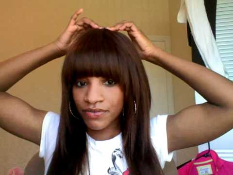 Sew-in Weave With Bangs