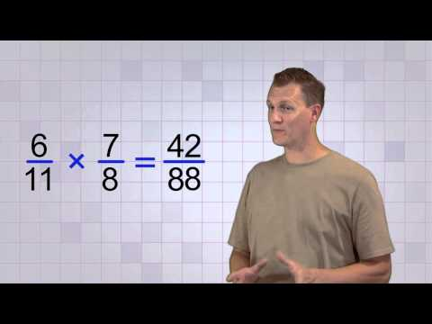 Math Antics - Multiplying Fractions video