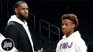 Why LeBron James' behavior at Bronny's AAU games is so important | The Jump