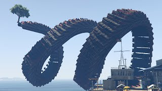GIGANTIC MEGA SKY LOOPS! (GTA 5 Funny Moments)