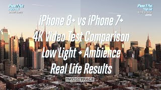 NYC 4K iPhone 8+ VS iPhone 7+ Video Test Comparison Zoom low light