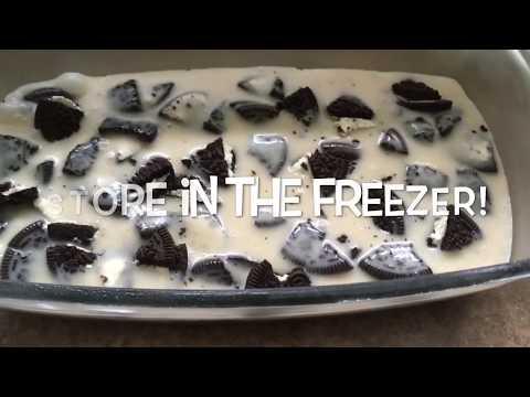 No Bake Frozen Oreo Dessert!