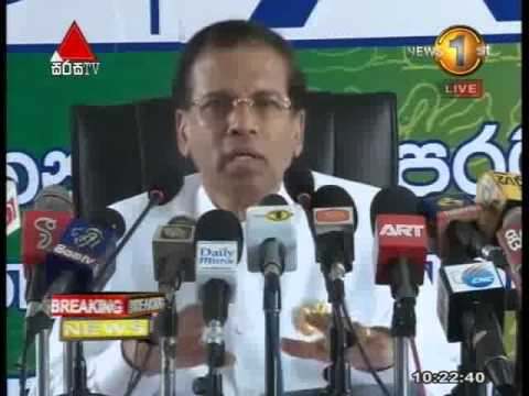 05th January 2015 - Maithripala Sirisena - Media Conference