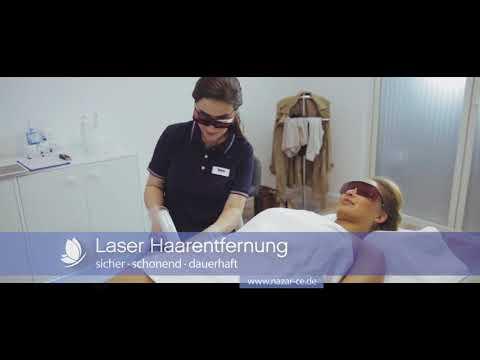 Dauerhafte Laser Haarentfernung NAZAR cosmetics & esthetics