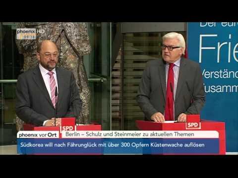 Europawahl - Martin Schulz & Frank-Walter Steinmeier zu aktuellen Themen am 19.05.2014