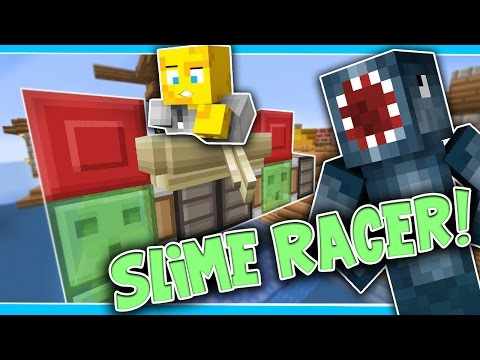 Minecraft - TIME TRAVELLERS! - SLIME RACER! #28 W/Stampy & Ash!