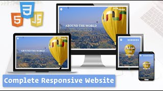 Responsive Website with HTML, CSS, and JavaScript / How to Build Responsive Website - HTML, CSS, JS