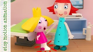 Holly fell off a skateboard, Holly hurt her leg Ben and Holly toys animation