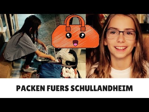 DANA (10) PACKT FUER DAS SCHULLANDHEIM - VLOG 01.10.17 UND 05.10.17