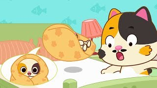 Baby Kitten Doesn't Want to Sleep | Baby Kitten's Hero Daddy | Kids Song | Bedtime Lullaby | BabyBus