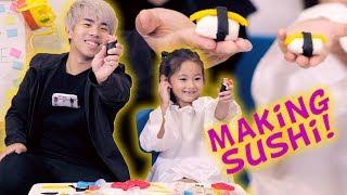 Play-Doh Challenge: Making SUSHI!!!