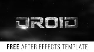 "FREE After Effects Template ""Epic Trailer Titles"""
