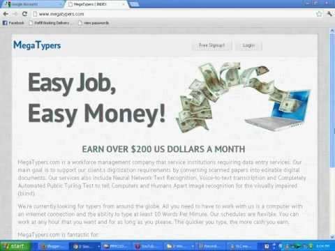 Earn Money Online By Typing 100% Legitimate
