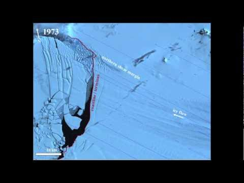 Antarctic Ice Shelf Tearing Apart at the Seams