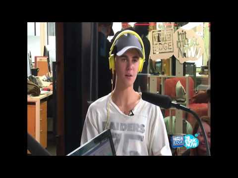 Justin Bieber's Interview at The Edge NZ radio station in Auckland, New Zealand - October 1, 2015