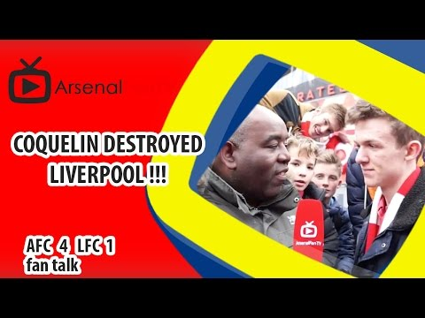 Coquelin Destroyed Liverpool !!! | Arsenal 4 Liverpool 1