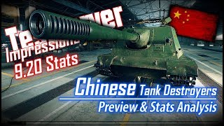 9.20 T.S. – Chinese TD's Preview & Stats Analysis || World of Tanks